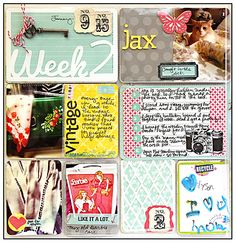 Project life Inspiration from Michelle Lanning - tutus&Gluedots