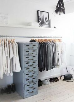 | closet: idea for industrial style |