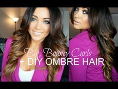 Big, Bouncy Curls Tutorial + DIY Ombre Hair by SMLx0..she's drop dead gorgeous and an incredible guru