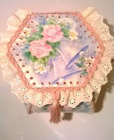 OKAY!!  Here we go!  A tutorial to show us exactly how to stitch these little wonders together...for just $5!!!!  Thanks Julie!!!!  Greeting Card Box Tutorial Victorian Hankie by AlchemyMosaics, $5.00