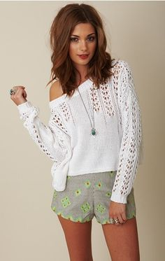 Love this crochet sweater from @shopplanetblue #PBmama