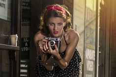 Amazing model Alina from Romania embodying pin-up period.