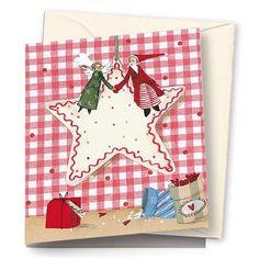 Pakettikortti, joulupukki ja enkeli - Emma's & Mama's shop