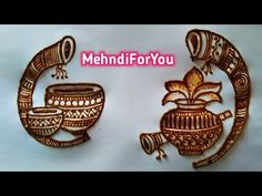 Beginners heena mehndi :- How to make kalash in mehndi design Video topics:- 🔸 How to make kalash 🔸 How to make Tabla 🔸 How to make shahnai 🔸 Dholak mehndi d. Peacock Mehndi Designs, Mehndi Designs Feet, Simple Arabic Mehndi Designs, Latest Bridal Mehndi Designs, Mehndi Designs Book, Indian Mehndi Designs, Full Hand Mehndi Designs, Mehndi Designs 2018, Mehndi Designs For Girls