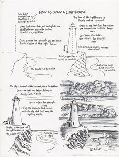 How to draw a lighthouse worksheet