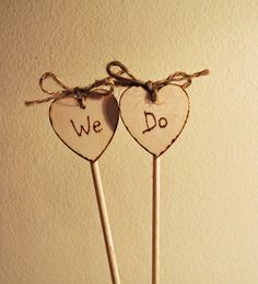 We Do Rustic Cake Toppers by Melyshoney on Etsy, £4.50