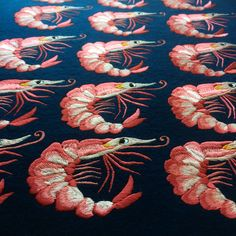 Embroidered Prawns Ellie Mac Embroidery