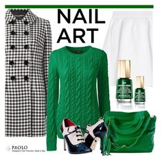 """""""Wintery Nail Polish and PaoloShoes"""" by spenderellastyle ❤ liked on Polyvore featuring beauty, Dolce&Gabbana, malo, Lands' End and Mavala"""