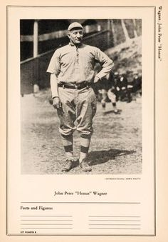 1946-49 W603 Sports Exchange #8-8 Honus Wagner Front