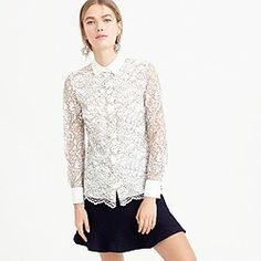 Edged lace blouse