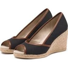 Kate Wedge Espadrille Black