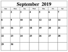 Choose Fillable Calendar for September 2019 Printable Template with Holidays. Get Printable September 2019 Fillable Calendar Templates Notes in PDF, Word. Free Printable Calendar Templates, Calendar 2019 Printable, Excel Calendar, Monthly Calendar Template, Blank Calendar, Monthly Calendars, Templates Free, Monthly Planner, Free Printables