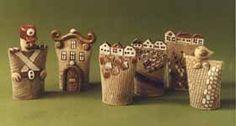 JETTO keramika - Ruční keramické výrobky - ZVONKY Clay Houses, Paper Dolls, Sculpture, Inspiration, Bell Jars, Little Cottages, Pottery, Deco, Biblical Inspiration