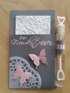 Accessoires - Für Freudentränen inkl. Weddingbubbles grau-rosa - ein Designerstück von cardlove bei DaWanda