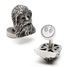 What you wear and how you wear it determines your characteristic. Create your own individual style and purchase your first star wars cuff links or add to your collection, starting with a distinguishing pair of 3D Palladium Chewbacca Cufflinks