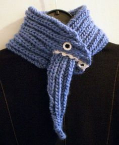 scarf that won't fall off. Make a dragon!.