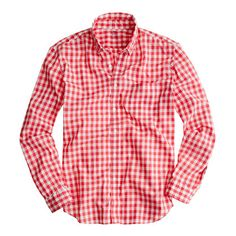 Secret Wash lightweight shirt in Van Buren gingham - lightweight washed shirts - Men's shirts - J.Crew