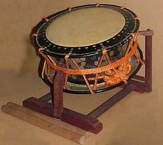 Taiko  Date: 20th century Geography: Japan Medium: Wood, hide Dimensions: H. 34.5 x Diam. 38.2cm (13 9/16 x 15 1/16in.) Classification: Membranophone-double-headed / cylindrical drum