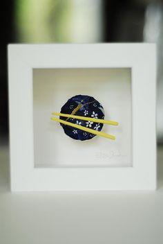 Kintsugi Eggshells Bowl and Chopsticks- 3