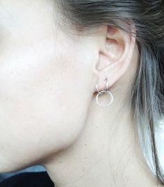 Monocrafft loop earrings
