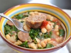 A hearty and warming sausage & kale cassoulet made in the slow cooker for minimal effort.