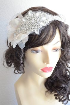 Crystal rhinestone high sparkle headpiece with Petals