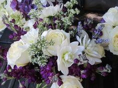 wedding flowers white and purple - Google Search