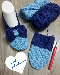 Best 12 my beautiful booties ( Free Crochet Bootie Patterns, Crochet Slipper Pattern, Crochet Ripple, Crochet Shawl, Crochet Baby, Crochet Boots, Crochet Clothes, Knitted Slippers, Slipper Boots