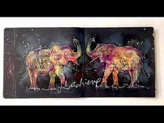 Lucky Elephants Mixed Media Art Journal - YouTube