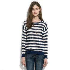 Stitch-Stripe Sweater
