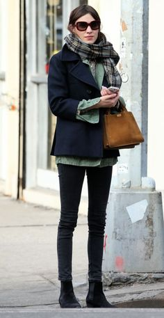 Alexa Chung steps out in New York on Friday, 19/12/13