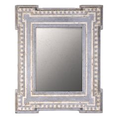 Distressed Seaside Cottage Mirror - blue and white