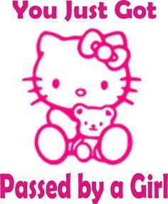 Hello Kitty Girls Funny Decal Car Sticker