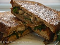 Engine2 Inspired Tempeh Mushroom Panini Melts #vegan