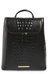 Brahmin 'Darcy' Croc Embossed Leather Backpack