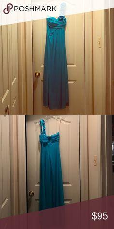 Blue Prom Dress Long blue prom dress. Size x-small. eureka Dresses Prom