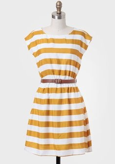 Semester Abroad Striped Dress In Goldenrod #Summer to #Fall Get 5% Cash Back http://www.studentrate.com/washington/get-washington-student-deals/ShopRuche-Student-Discounts--/0