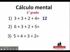 Calculo mental. 1° de primaria - YouTube