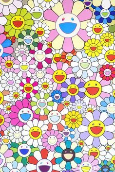 Purple Aesthetic Discover Takashi Murakami Flower Smile SOLD - The Whisper Gallery Takashi Murakami Flower Smile SOLD - The Whisper Gallery Hippie Wallpaper, Trippy Wallpaper, Iphone Background Wallpaper, Retro Wallpaper, Aesthetic Iphone Wallpaper, Flower Wallpaper, Smile Wallpaper, Superflat, Bedroom Wall Collage