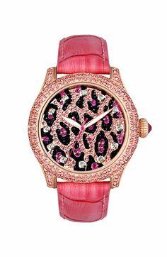 Betsey Johnson Leopard Dial Watch | Nordstrom