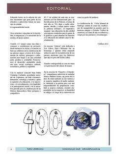 Editorial del Número de Octubre 2014 de la Revista 400 @400revista ;) Revista 400