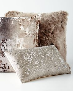 Shop Luxe Pillows from Aviva Stanoff at Horchow, where you'll find new lower shipping on hundreds of home furnishings and gifts. Neutral Cushions, Accent Pillows, Throw Pillows, Mermaid Pillow, Baby Mermaid, Suri Alpaca, Neutral Color Scheme, Colour Combo, Outdoor Rooms