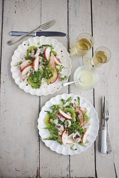Dreaming of Italy and Eleonora Galasso's Spelt Salad with chicken, courgettes and Goat's cheese. Summer Lunch Recipes, Healthy Foods, Healthy Recipes, Summer Dishes, Chicken Salad, Food Art, Cobb Salad, Salad Recipes, Salads