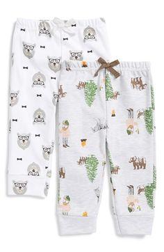 Rosie Pope Graphic Print Pants (Set of 2) (Baby Boys) | Nordstrom