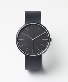 Uniform Wares - 104 Series wristwatch - PVD Black / Black Rubber watch - 104/KK-01 - Female designer watch - Men's designer watch - British