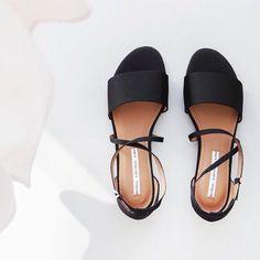 sandales noires femme, sandales d'été femme noires