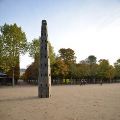 Image 2 of 15 from gallery of Pezo von Ellrichshausen Constructs Temporary Wooden Tower in Paris' Jardin des Tuileries. Photograph by Pezo von Ellrichshausen Tuileries Paris, Jardin Des Tuileries, Architecture France, Pezo Von Ellrichshausen, Tower In Paris, Landscaping Images, Pavilion, Paris France, Contemporary Design