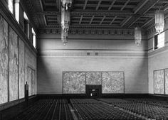 The interior of the Brangwyn Hall, taken in 1949