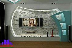 Latest gypsum board Tv wall design for living room Living Room Tv Unit Designs, Ceiling Design Living Room, Bedroom False Ceiling Design, Room Door Design, Niche Design, Tv Wall Design, Home Design Plans, Home Interior Design, Interior Decorating