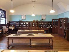 Cooking room in the Mackintosh Scotland Street School museum in Glasgow, 2013